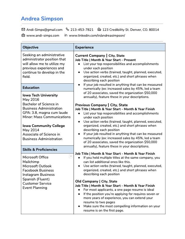Top Dollar Resume Template