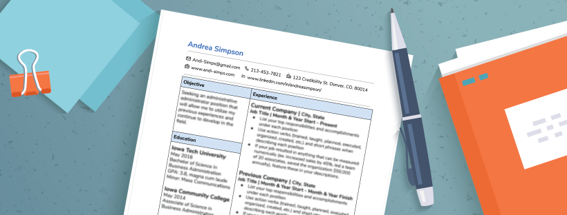 Brush Up Your Resume With Our Free Template
