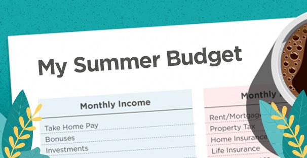 Summertime Spending Budget