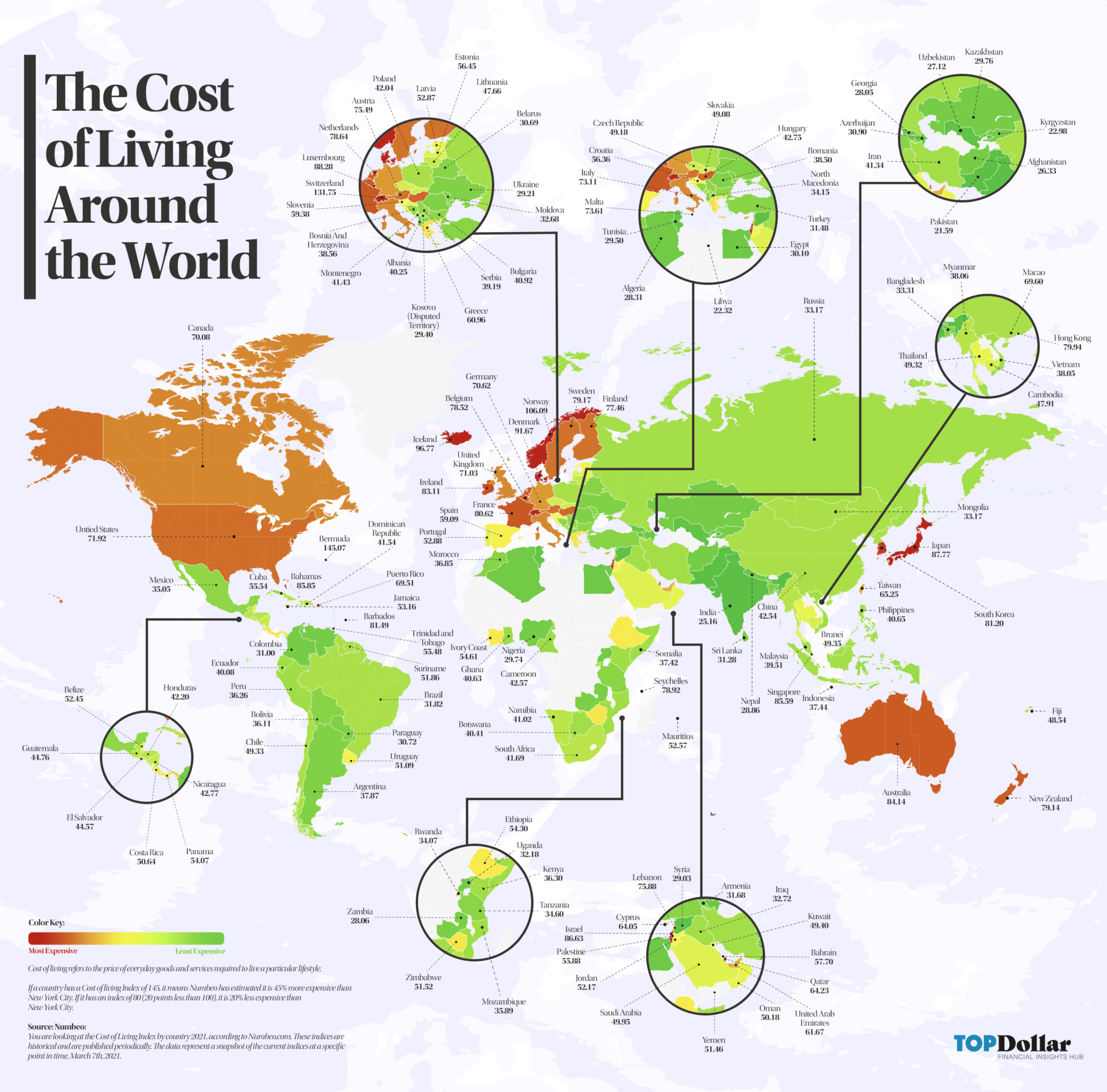 The Cost of Living Around the World Blog